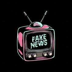 Fake news on old school tv screen by rawpixel on Creative Market - Fake news on old school tv screen by rawpixel on Creative Market The Effective Pictures We Offer Yo - School Tv, Old School, Shirt Print Design, Shirt Designs, Pop Art, Design Kaos, Graphic Design Posters, Typography Poster Design, Graphic Design Illustration