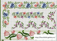 borders cross stich patterns @Anna Halliwell Boyd Fontaine Collection