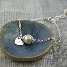 Wrapped Pearl Silver Bracelet