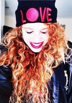 I just love mahogany and her hair and her beanies