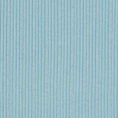 Sky Blue Embroidered Stripe Cotton Ribbing Knit Fabric - A sky blue color embroidered stripe cotton rib knit. Fabric has a 2 x 2 rib, soft hand, is mid weight with a nice mechanical stretch.  Great for use as ribbed tank tops and dresses, swim cover ups, baby wear,  and also for necklines, sleeve bands, waist bands, and much more!  ::  $5.50