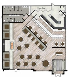 restaurant rendered plan style by design