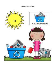 Marci fejlesztő és kreatív oldala Recycling Activities For Kids, Motor Activities, Activity Games, Earth Day, Childhood Education, Fine Motor, Kindergarten, Homeschool, Green Day