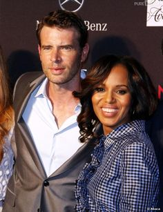 kerry washington and scott foley | Kerry Washington et Scott Foley à la soirée de lancement de la ...