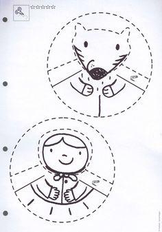 Červená Čiapočka Creative Activities, Preschool Activities, Fairy Tale Activities, Abc School, Kindergarten, Traditional Tales, Three Little Pigs, Red Riding Hood, Art Plastique