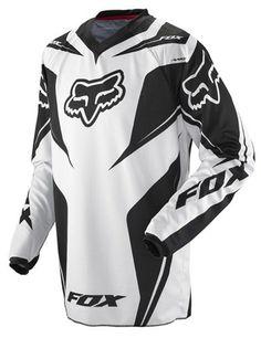 Fox Racing HC Race Youth Boys Off-Road/Dirt Bike Motorcycle Jersey w/ Free B Heart Sticker Bundle - Black / Medium