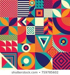 Geometric Patterns, Geometric Shapes Design, Geometric Quilt, Geometric Drawing, Abstract Shapes, Geometric Art, Shape Collage, Shape Art, Graphic Design Pattern