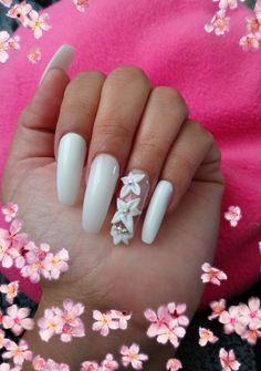Nails, Beauty, White Nails, Pretty Gel Nails, Finger Nails, Ongles, Beauty Illustration, Nail, Nail Manicure