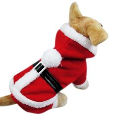 Paixpays Sweet Pet Dog Cat Puppy Hoodie Coat For Small Xmas Pet Dog Warm Costume ** Click on the image for additional details. (This is an affiliate link) #MyPet