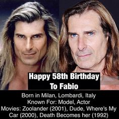 March 15: Happy 58th Birthday to Fabio #fabio #model #actor #bornonthisday #happybirthday