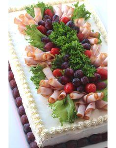 Sandwiches, Sandwich Cake, Veggie Quinoa Bowl, Wooden Serving Platters, Chicken Cake, Chocolate Dipped Strawberries, Fruit Salad Recipes, Diy Cake, Savoury Cake