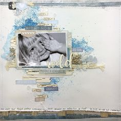 One of my layouts for the February Creative Kit Club 💙💙💙 Lovin the blues Scrapbook Page Layouts, Scrapbook Pages, Scrapbooking, Beach Shack, Creative Memories, Layout Inspiration, Cardmaking, Blues, Kit