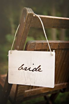 Bride and Groom Signs - Wedding Chair Signs on card stock paper. Place Cards - Mr. Darcys Handwritten Letter Love Note.