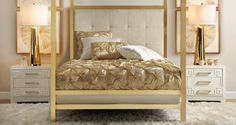 Love this white and gold look. Can't wait to try it in my bedroom. I would add some navy though.