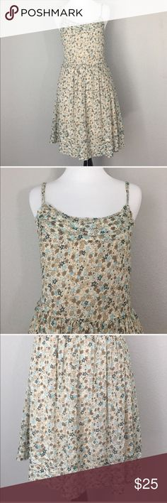 """Willow & Clay summer dress size small Gauzy material size small adjustable straps measurements laying flat armpit to armpit: 15"""" waist: 13"""" Willow & Clay Dresses Midi"""