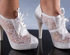 Wedding shoes, Bridal shoes, Bridesmaid shoes, Handmade Lace and satin wedding shoes designed specially and Choose heels height and colors Outdoor Wedding Shoes, Satin Wedding Shoes, Wedding Boots, Bridesmaid Shoes, Bride Shoes, Ring Verlobung, Mode Style, Vintage Shoes, Beautiful Shoes