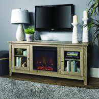 Surprising fireplace tv stand walmart just on home design ideas site Swivel Tv Stand, Tv Stand Console, Console Table, Tv Furniture, Living Room Furniture, Kitchen Furniture, Kitchen Dining, Tv Stand With Glass Doors, Electric Fireplace Tv Stand