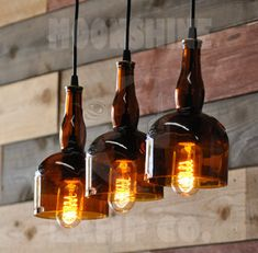 The Gran Marnier 3-Light Bar Pendant. I love the way the lightbulbs hang out from the bottom. I love my new workshop space.