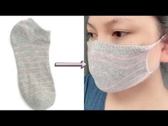 Easy Face Mask from Socks! NO Sew! - YouTube