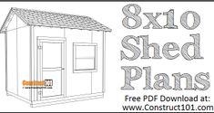 DIY 2x4 Storage Shelves - Free Plans - Construct101 Shed Plans 12x16, Lean To Shed Plans, Wood Shed Plans, Shed Building Plans, Coop Plans, Large Dog House Plans, Bird House Plans, Simple Workbench Plans, Sawhorse Plans