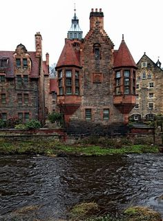 Water of Leith, Dean Village, Edinburgh, Scotland. The Edinburgh World Heritage bus tour stops in this storybook medieval suburb. Places Around The World, Oh The Places You'll Go, Places To Travel, Travel Destinations, Places To Visit, Around The Worlds, Scotland Destinations, Travel Tourism, Vacation Places