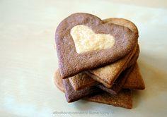Double chocolate heart cookies - Galletas corazones dobles