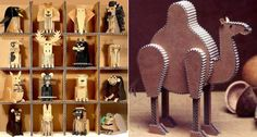 cardboard animals.