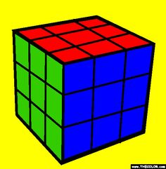 find this pin and more on drawings colored by thecolorcom members rubiks cube coloring page