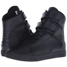 Supra Society II Men's Skate Shoes ($130) ❤ liked on Polyvore featuring men's fashion, men's shoes, men's sneakers, mens velcro high top sneakers, mens velcro strap shoes, mens high top velcro shoes, mens velcro shoes and mens hi tops