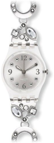 Swatch LK321G Women's Menthol Tone White Crystals Stainless Steel Silver Dial Watch Swatch. $76.50. Analog Display. Steel Bracelet Strap