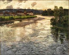 Frits Thaulow, La Dordogne The river La Dordogne in France. Frits Thaulow (Christiania, 20 October 1847 – Volendam, 5 November was a Norwegian impressionist painter, best known for his naturalistic depictions of landscape. Paintings I Love, Seascape Paintings, Landscape Art, Landscape Paintings, Art Timeline, La Dordogne, Monet, Painting Inspiration, Modern Art