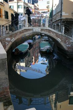 Look at that special form of bridges they have in Venice!