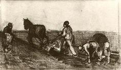 Ploughman and Three Women 1883 Vincent van Gogh