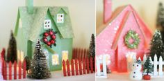 Make your own little Christmas village.