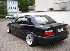 Fantastic BMW e36 cabrio with hardtop on cult classic OZ AC Schnitzer type 1 wheel