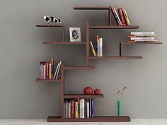 BONSAI bookcase very dark brown