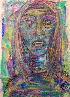 Telling My Story  Gouache, Wax Crayon and Pastel Pencil