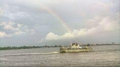 Immediately I spot this Rainbow, I had to a shot before it fades off #NaturePhotography #TakwaBayBeach #Rainbow #Lagos #NavyPatrolShip Eko Atlantic, Lagos, Nigeria.
