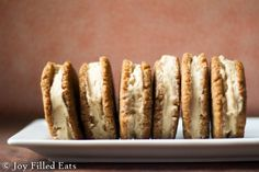 Maple Cream Sandwich Cookies. Maple Cookies filled with Maple Buttercream? Oh yes. My love affair with maple continues. These are sugar/gluten/grain free, low carb, THM S.