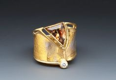 Andalucite / Diamond Ring by Marne Ryan - exquisite.