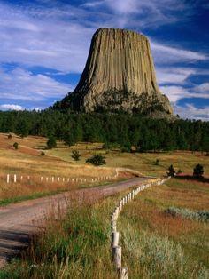 Devil's Tower northeastern Wyoming.