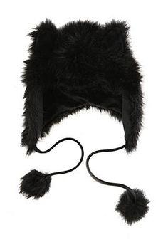 Black Fur Hat (Hot Topic)