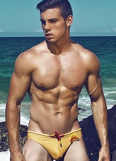 2EROS - V10.26 Beach Club Swim Brief - Gold