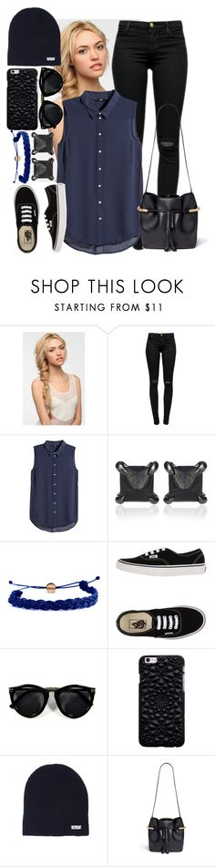"""Untitled #344"" by yazbo ❤ liked on Polyvore featuring Eva NYC, J Brand, H&M, Eva Fehren, Domo Beads, Vans, Neff, Chloé, women's clothing and women's fashion"
