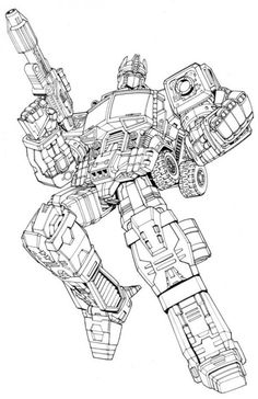 Transformers Color Pages Ultimate Optimus Prime Transformers
