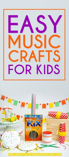 DON'T MISS these Music Crafts for Kids EASY and FUN ideas for music summer activities, crafts for toddlers, crafts for preschoolers & educational summer activities for kids!