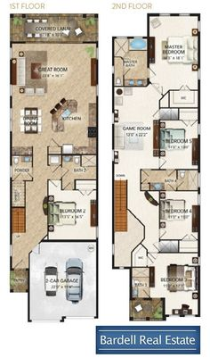 I found this on Rightmove Narrow House Plans, Beach House Plans, House Floor Plans, House Layout Plans, House Layouts, One Level Homes, Indian House Plans, Long House, Queenslander