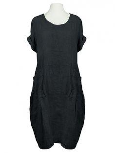 Kleid leinen schwarz