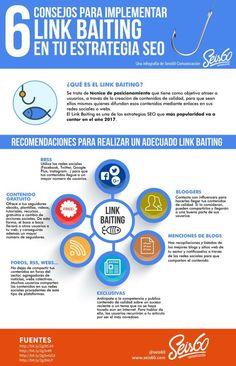 6 consejos para implementar Link Baiting en tu estrategia SEO. Infografía en español. #CommunityManager