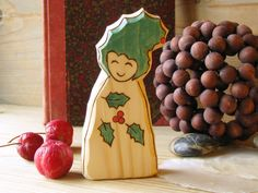 Holly Gnome - Christmas - waldorf inspired toy from Rjabinnik by DaWanda.com
